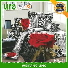 rose printed bedding set/reactive print bedding set/round crib bedding