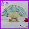 party decor fabric silk bamboo hand fan cheap hand fans