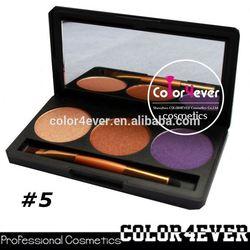 Wholesale Christmas hot 3colors waterproof makeup cosmetics eyeshadow palette eye shadow adhesive