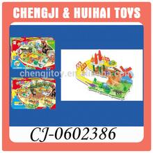 Baby puzzle building block plastic toy slot train