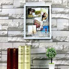 2014 ventas calientes del nuevo diseño cristal de cristal caja cubo marco de fotos de plata