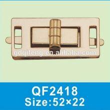 QF2401 light gold accessory lock briefcase /beautiful leather bag lock