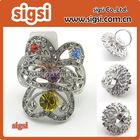 Rhinestone napkin ring Pin - Acrylic Rhinestone Crystal napkin ring - rhinestone napkin ring