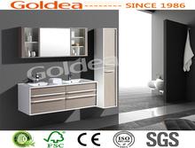 2014 novo design comercial MDF modern double sink mobília do banheiro