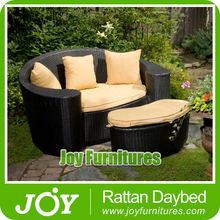 Round Rattan Wicker Footstool