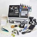 profesional 2014 kits de tatuaje guns 2 rotatorio de la máquina del tatuaje kits de tatuaje kits de perforación