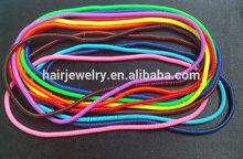 Thin Design Plastic 50cm Long Telephone Line Bracelet Elastic Hair Bands For Girl