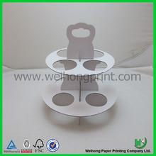 3 tier paper cardboard cupcake stand