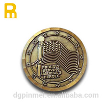 Professional metal 2D/3D round coin with antique plating