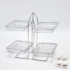 4pcs rectangle acrylic candy & bread display rack