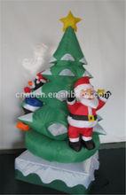 most popular courtyard Christmas inflatable decoration, rotatable christmas tree