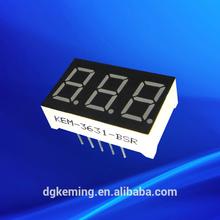Mini white 0.36 inch 7 segment led display 3 digit led small price display