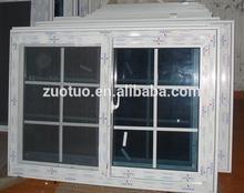 hotel pvc sliding window/two panels windows