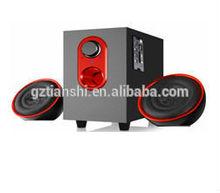 professional factory Multimedia wooden 2.1 Computer speaker,2.1 Speaker