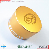 OEM ODM metal cap stamping parts Aluminum gold color stamping cap Metal cover Stamping Part supplier