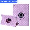 Polka Dot 360 Rotating PU Leather Case For Apple iPad 6 & air 2