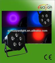 Mega Profile DMX 50W Par Light/Slim TRIPAR Profile Black (Flat Panel Par Can) Dual Mounting Bracket (5*3W 3in1)