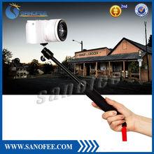 adjust pole Durable metal shaft mini hand held selfie stick for camera