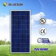 CE TUV UL certificate 18v 140w polycrystalline solar panel