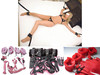 Under the Bed Restraints Bondage Kit With Soft Faux Fur Lined Wrist Ankle Cuffs For Women And Men