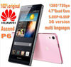 100% Original Huawei P6 brand 4.7inch quad core 2+8GB memory 12MP camera HD IPS screen huawei ascend p6 android mobile phone