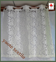 The Embroidering Flower with 8 Grommets Window Curtain