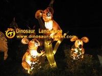 Colorful lanterns animals type chinese lanterns