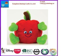plush apple toy/soft apple toy/cute plush apple
