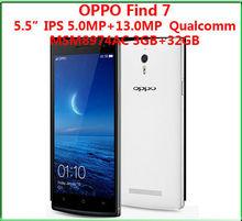 Original 5.5inch OPPO Find 7 X9077 MSM8974AC Mobile Phone 2K screen 2.5GHz 2560x1440 3GB RAM 32GB ROM 13MP WCDMA 4G LTE OTG NFC