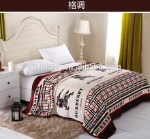 Rotary Printing European Style 100%Polyester Flannel Fleece Blanket cheap in bulk