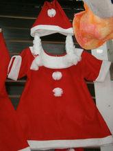children cheap promotional fleece christmas santa hat