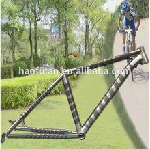 No.1 Newest model 650B Rectangular tube titanium bike frame with post mount disc rack mount fender mount taper head tube