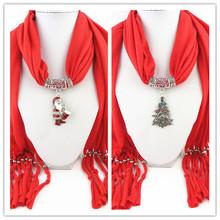 2014 Special Promotion Christmas Design Pendant Scarves