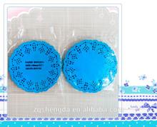 Disposable High Quality Round Shape Blue Paper Doilies Lace