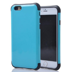 Dual Layer full PC Silicone Protective Phone Case for iphone 6 hybrid Case