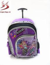 china hot sales kids school trolley bag
