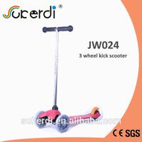 120/80mm 3 wheel plug in aluminum T bar kick kick 3 wheeler scooter