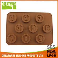 mini silicone number chocolate mold