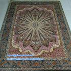 5'x7.2' Hot Sale Unique Pink Turkish Silk Carpet Handmade Silk Rug