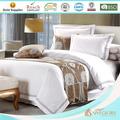 Branco bordado 100 poliéster colcha hotel/edredon/consolador