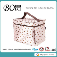 hanging cosmetic bag with mirror satin cosmetic box
