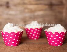 Chevron Polka Dot Stripes Cupcake Wrappers Cake Liners Wedding Supplies Wholesale