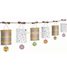 Cylinder accordion paper lantern garland for baby shower decoration