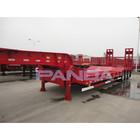Tri-axle Low Flat Bed Trailer In Truck Semi Trailer Or Semi-trailer Truck From China Manufacturer