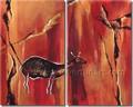 moderna handmade wild animal pintura em tela de porcelana decoração home atacado
