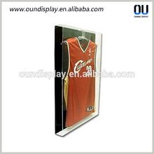 wall mounted acrylic jersey display case with lockable door