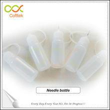 e cig needle bottle 15ml PE Material unique bottle for e cigarette