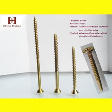 decoration screwdrywall screw with Yellow zinc coated fine thread From tianjin factory directly