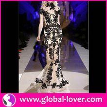 La moda de nueva estilo vestidos bordado de cambray