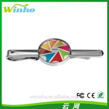 Winho custom tie clips with epoxy logo image